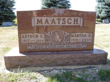 MAATSCH, MARTHA D. - Calhoun County, Iowa | MARTHA D. MAATSCH