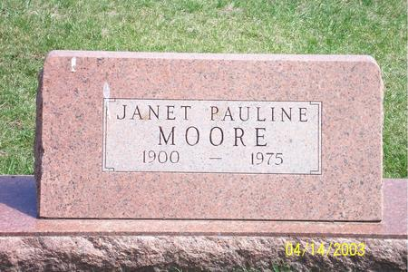 MOORE, JANET PAULINE - Calhoun County, Iowa | JANET PAULINE MOORE