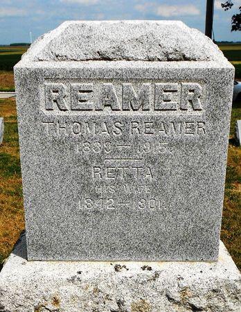 REAMER, THOMAS - Calhoun County, Iowa   THOMAS REAMER