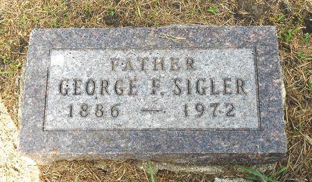 SIGLER, GEORGE FRANKLIN - Calhoun County, Iowa   GEORGE FRANKLIN SIGLER