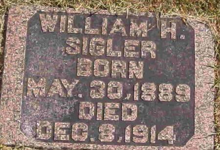 SIGLER, WILLIAM H - Calhoun County, Iowa   WILLIAM H SIGLER