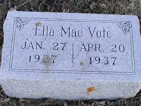 VOTE, ELLA MAE - Calhoun County, Iowa | ELLA MAE VOTE