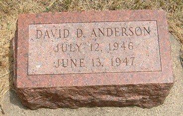 ANDERSON, DAVID D. - Carroll County, Iowa   DAVID D. ANDERSON
