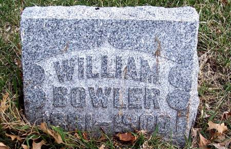 BOWLER, WILLIAM - Carroll County, Iowa   WILLIAM BOWLER