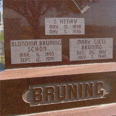 BRUNING, J. HENRY & MARY - Carroll County, Iowa | J. HENRY & MARY BRUNING