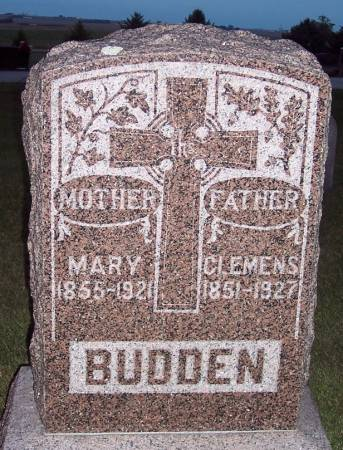 SCHULTE BUDDEN, MARY ANNA - Carroll County, Iowa | MARY ANNA SCHULTE BUDDEN