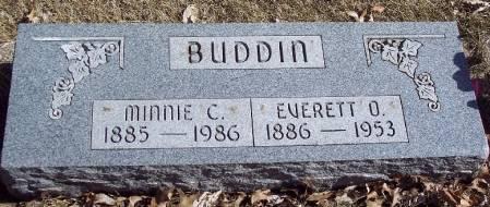 LOEBEL BUDDIN, MINNIE CATHERINE BARBARA - Carroll County, Iowa | MINNIE CATHERINE BARBARA LOEBEL BUDDIN