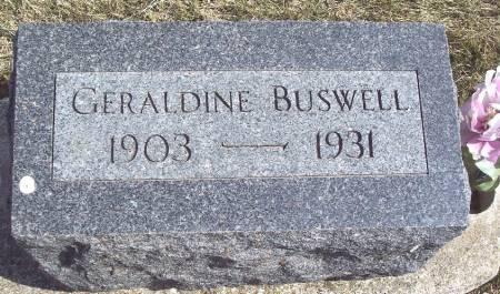 BUSWELL, GERALDINE - Carroll County, Iowa | GERALDINE BUSWELL
