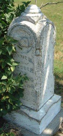 CODER, FANNIE M. - Carroll County, Iowa   FANNIE M. CODER