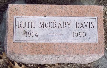 MCCRARY DAVIS, RUTH - Carroll County, Iowa | RUTH MCCRARY DAVIS