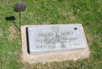 DEWEY, ARTHUR C. - Carroll County, Iowa | ARTHUR C. DEWEY