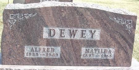 DEWEY, MATILDA MARGARET - Carroll County, Iowa | MATILDA MARGARET DEWEY