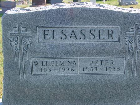 ELSASSER, PETER & WILHELMINA - Carroll County, Iowa | PETER & WILHELMINA ELSASSER
