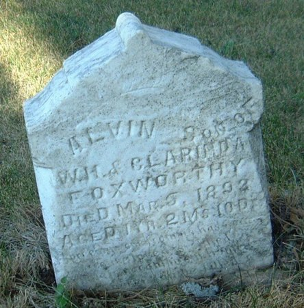 FOXWORTHY, ALVIN - Carroll County, Iowa   ALVIN FOXWORTHY