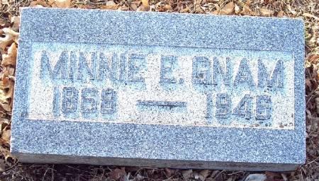 GNAM, MINNIE E - Carroll County, Iowa | MINNIE E GNAM