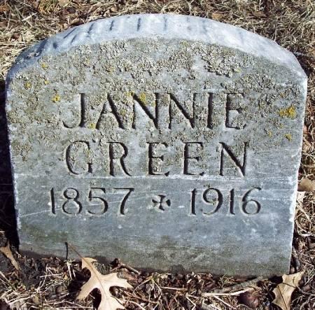 GREEN, JANNIE - Carroll County, Iowa   JANNIE GREEN