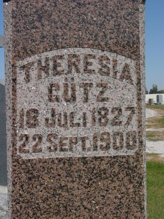 GUTZ, THERESIA - Carroll County, Iowa   THERESIA GUTZ