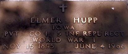 HUPP, ELMER - Carroll County, Iowa   ELMER HUPP