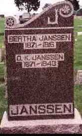 JANSSEN, BERTHA - Carroll County, Iowa | BERTHA JANSSEN