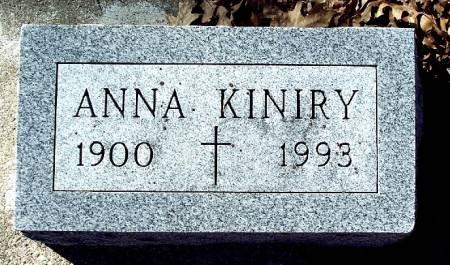 KINIRY, ANNA CECELIA - Carroll County, Iowa | ANNA CECELIA KINIRY