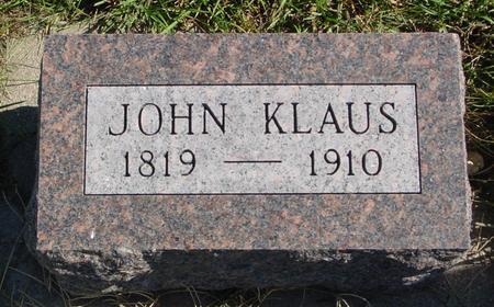 KLAUS, JOHN - Carroll County, Iowa | JOHN KLAUS