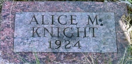 KNIGHT, ALICE M. - Carroll County, Iowa | ALICE M. KNIGHT
