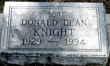 KNIGHT, DONALD DEAN - Carroll County, Iowa   DONALD DEAN KNIGHT