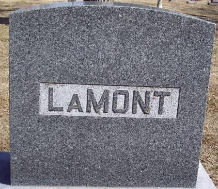 LAMONT, TOMBSTONE - Carroll County, Iowa | TOMBSTONE LAMONT