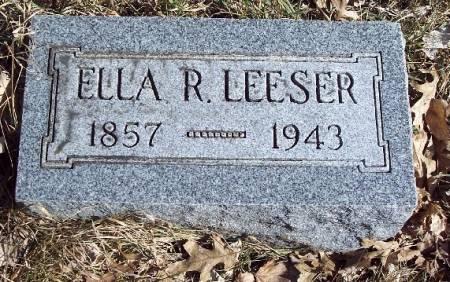 LEESER, ELLA REBECCA - Carroll County, Iowa   ELLA REBECCA LEESER