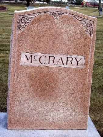 MCCRARY, TOMBSTONE - Carroll County, Iowa   TOMBSTONE MCCRARY