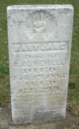 NEWELL, MARY JANE - Carroll County, Iowa   MARY JANE NEWELL