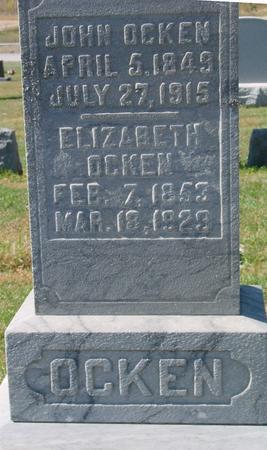 OCKEN, JOHN & ELIZABETH - Carroll County, Iowa   JOHN & ELIZABETH OCKEN