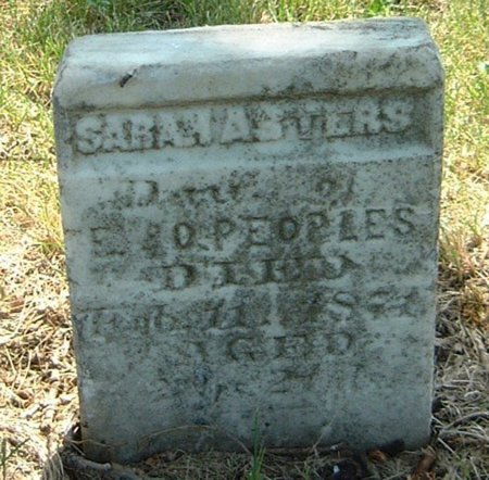 PEOPLES, SARAH ASTERS - Carroll County, Iowa   SARAH ASTERS PEOPLES