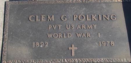 POLKING, CLEM G. - Carroll County, Iowa | CLEM G. POLKING