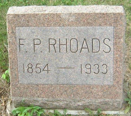 RHOADS, F. P. - Carroll County, Iowa | F. P. RHOADS