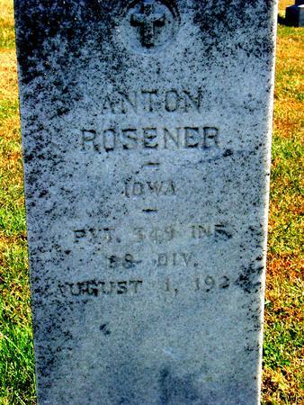 ROSENER, ANTON - Carroll County, Iowa | ANTON ROSENER
