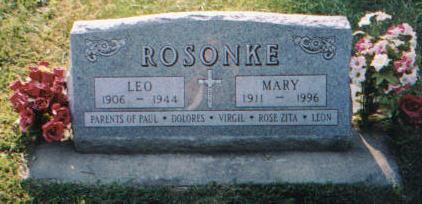 REILING ROSONKE, MARY - Carroll County, Iowa | MARY REILING ROSONKE