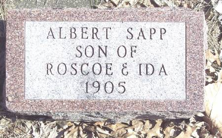 SAPP, ALBERT - Carroll County, Iowa   ALBERT SAPP
