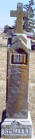 SCHALK, FERDINAND A. J. - Carroll County, Iowa | FERDINAND A. J. SCHALK
