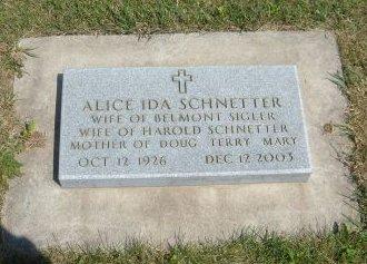 SCHNETTER, ALICE IDA - Carroll County, Iowa | ALICE IDA SCHNETTER