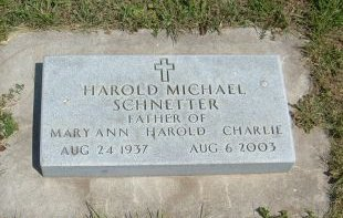 SCHNETTER, HAROLD MICHAEL - Carroll County, Iowa | HAROLD MICHAEL SCHNETTER