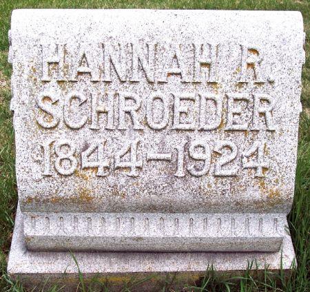 SCHROEDER, HANNAH R. - Carroll County, Iowa   HANNAH R. SCHROEDER