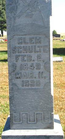 SCHULTE, CLEM - Carroll County, Iowa | CLEM SCHULTE