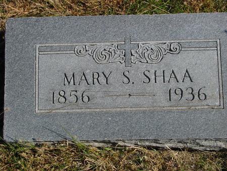 SHAA, MARY S. - Carroll County, Iowa | MARY S. SHAA