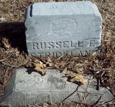STRICKLAND, RUSSELL E - Carroll County, Iowa   RUSSELL E STRICKLAND