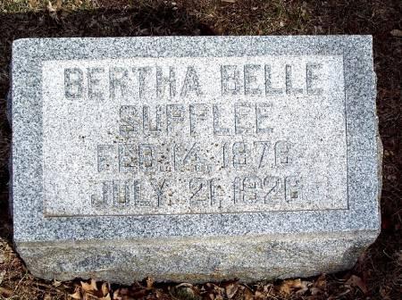 SUPPLEE, BERTHA BELLE - Carroll County, Iowa | BERTHA BELLE SUPPLEE