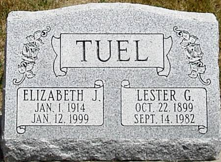 TUEL, ELIZABETH JANE - Carroll County, Iowa   ELIZABETH JANE TUEL