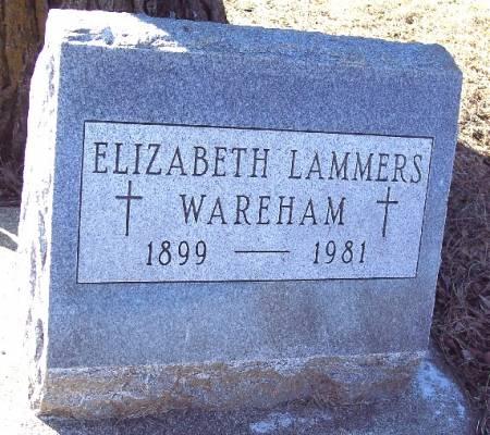 LAMMERS WAREHAM, ELIZABETH - Carroll County, Iowa   ELIZABETH LAMMERS WAREHAM