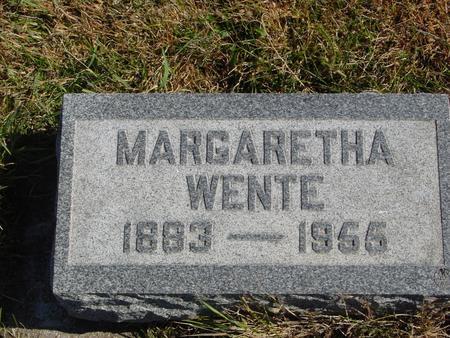 WENTE, MARGARETHA - Carroll County, Iowa | MARGARETHA WENTE