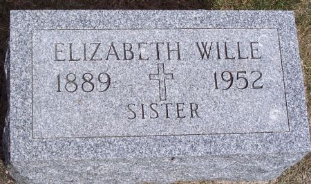 WILLE, ELIZABETH - Carroll County, Iowa   ELIZABETH WILLE
